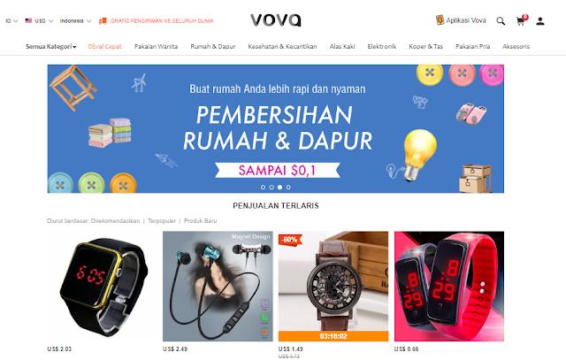 Cara Belanja Online di Vova Harganya Hanya $ 0.02