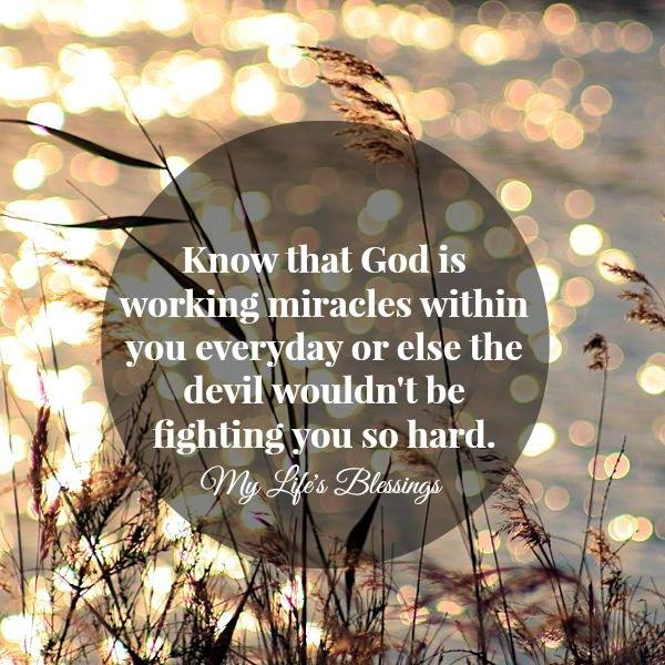 God is working miracles