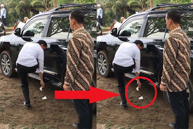 TERCYDUK! Habis Disanjung Detikcom, Jokowi KEDAPATAN Buang Sampah SEMBARANGAN!