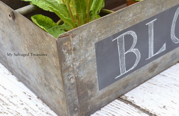 add a chalkboard label to a metal box
