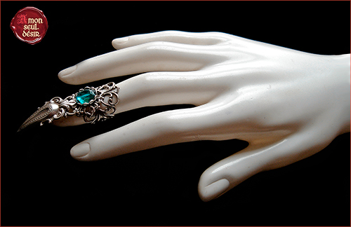 Bague Griffe Vampire Gothique Goth Gothic Claw Ring Silver Witch