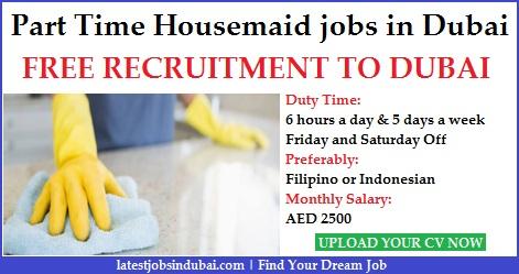 Part Time Housemaid jobs in Dubai
