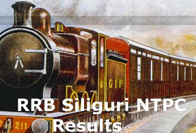 RRB Siliguri NTPC Results