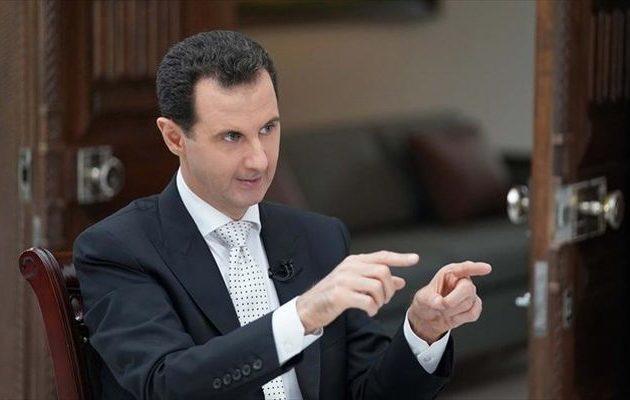Άσαντ: Ο Ερντογάν είναι «κολλητός» με τη Μουσουλμανική Αδελφότητα
