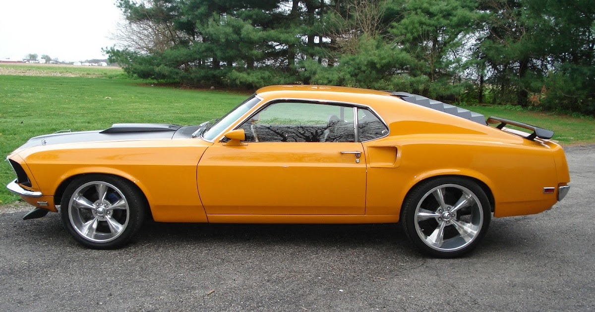 1969 Ford Mustang Fastback 351 Cobra Jet Grabber Orange