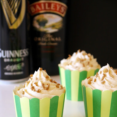 Recipe | Stout Chocolate Cupcakes with Irish Cream Frosting