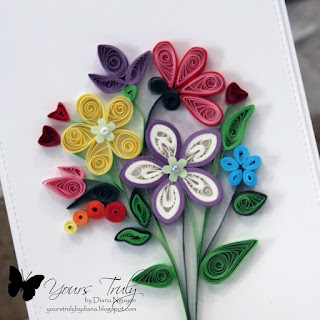 Diana Nguyen, quilling, handmade card