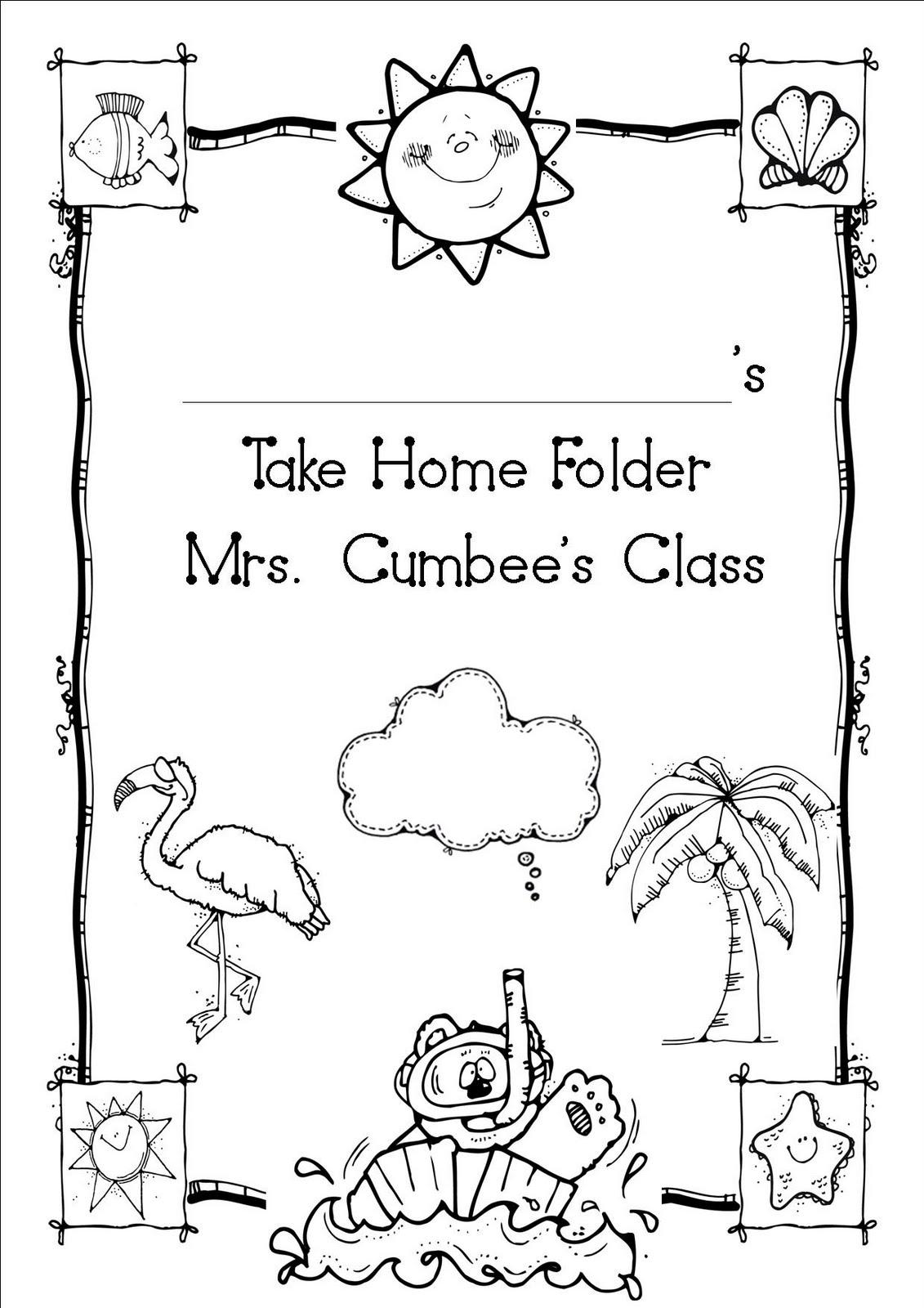 Oceans of Teaching Ideas: Take home folder cover