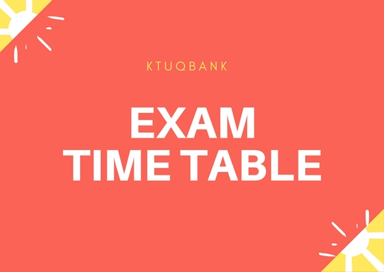 Revised Time Table- MBA T3 Supplementary Exam Sept 2017 published