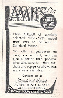 Lambs Ltd advert in the Motor magazine dated 25 September 1946