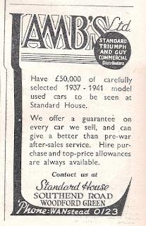 Lambs Ltd advert in the Motor magazine dated 25 September 1946