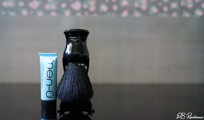 Men-u Citrus and Mint Shower Gel and Pro Black Shaving Brush