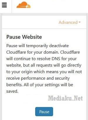 Menghentikan CloudFlare