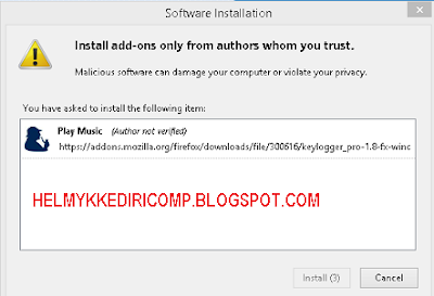 Fitur Keyloger pada Mozilla Firefox