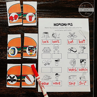 homonym-worksheets-first-grade-summer-learning-activity