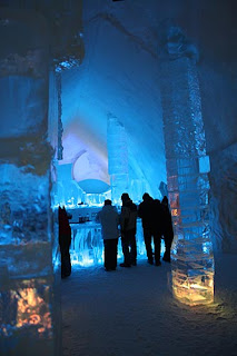 The Ice Hotel Bar.
