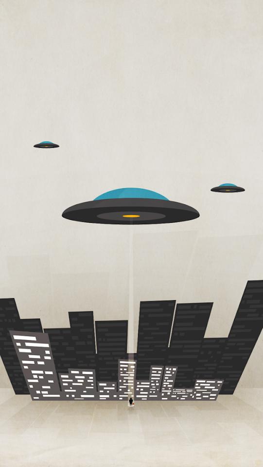UFO Third Grade Encounter Illustration  Galaxy Note HD Wallpaper