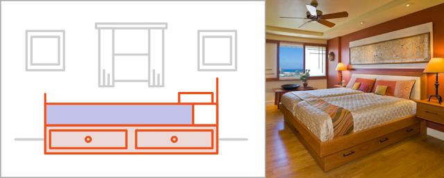 استخدم اثاث حافظ للمساحة في الغرف الضيقة لجعلها تبدو اكبر