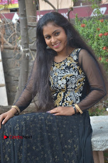 Tamil Actress Shreya Sri Stills in Black Akarkali Dress at Vanga Vanga Team Interview  0018.jpg