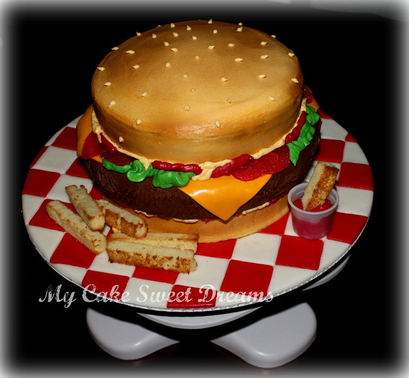 My Cake Sweet Dreams Cheeseburger Cake