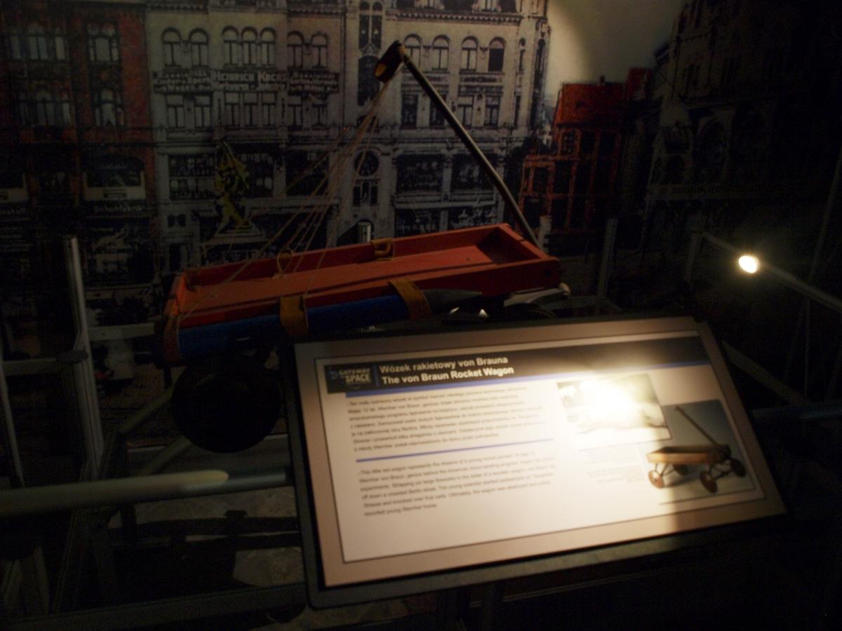 Wózek rakietowy Von Brauna | Fot: polskiastrobloger.pl