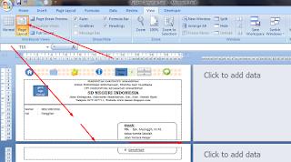 menampilkan page layout pada excel