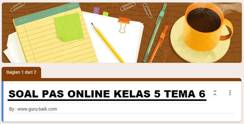 gambar soal online kelas 5 tema 6