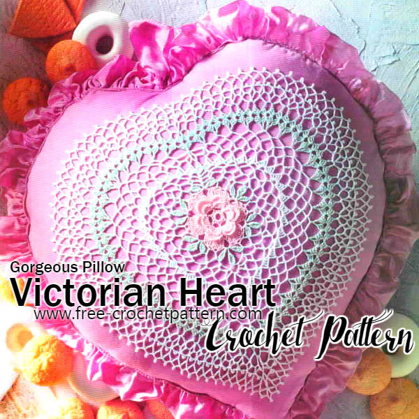 Victorian Heart Crochet Pillow / Pattern - Free Crochet Patterns