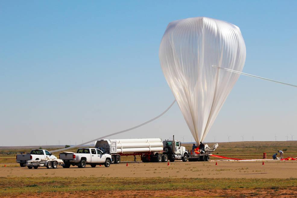 Satélites da NASA soltos em balões