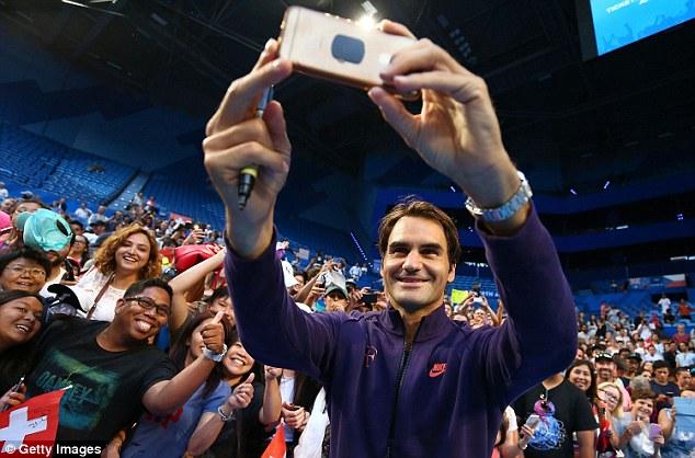 Selfie with Roger Federer