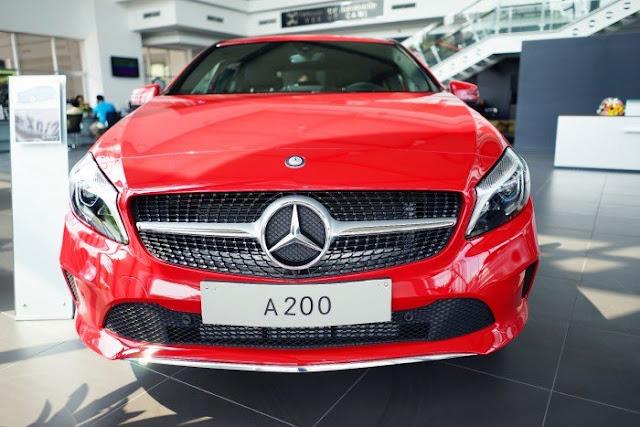 Mercedes A200 2017 được thiết kế như một viên đạn lao về phía trước