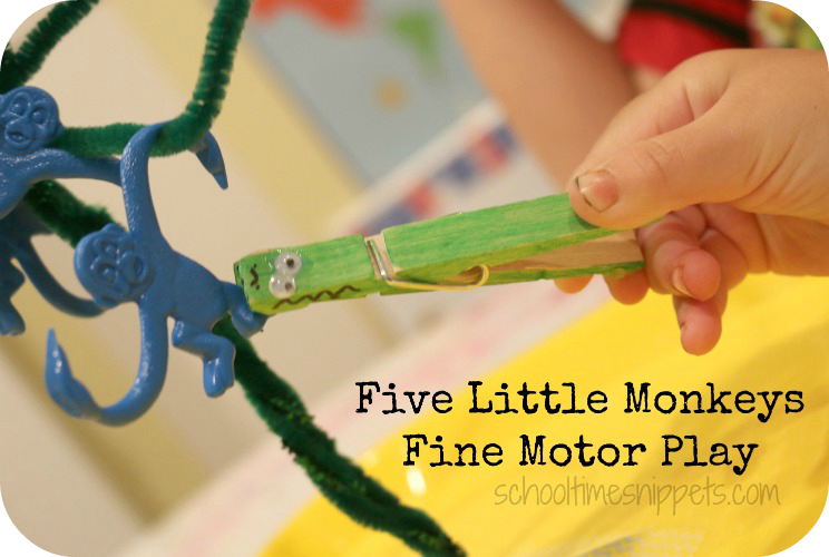 five little monkeys fine motor activity