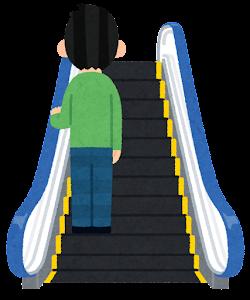 エスカレーターに乗る人のイラスト(左)