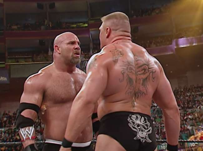 Goldberg vs Brock Lesnar at WrestleMania 20