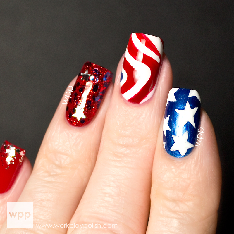 Pure Ice Stars and Stripes Collection 4th of July Nail Art