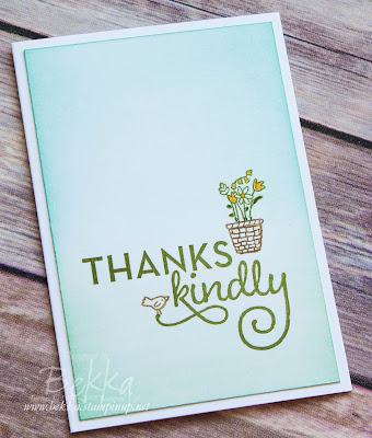Make In A Moment Thank You Card featuring products from Stampin' Up! UK