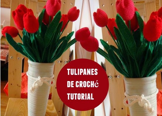 tulipanes,crochet,tutorial