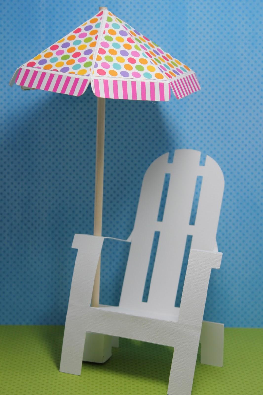 Svg Cutting Files Adirondack Chair And Umbrella