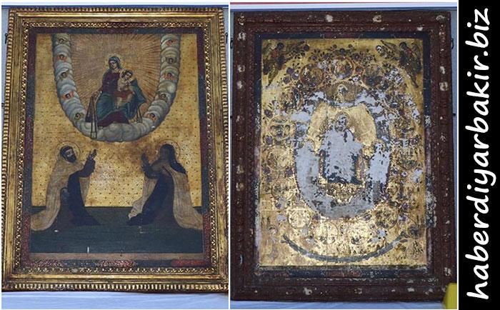 DİYARBAKIR- Diyarbakır Valiliği tarafından yapılan açıklamada, Bağlar ilçesinde düzenlenen operasyonda Roma dönemine ait 2 adet altın işlemeli tablonun ele geçirildiği ve olayla iltisaklı 5 şüphelinin gözaltına alındığı belirtildi.