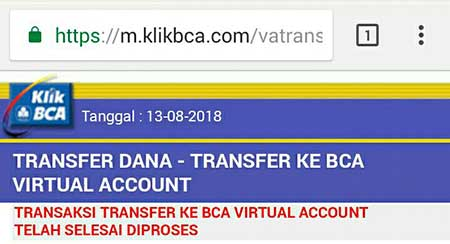 Minimum Transfer Saldo Ke BCA Virtual Account