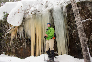 Giant Ice, Hiking Mount Drabble, Strathcona Park