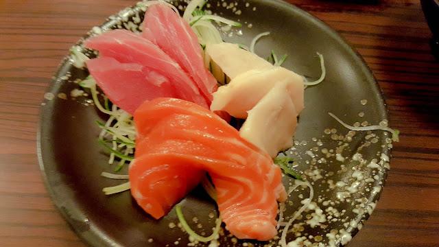 salmon tuna sashimi edo ichi sandakan japanese food
