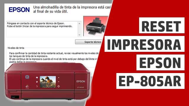 resetear almohadillas impresora Epson EP805AR