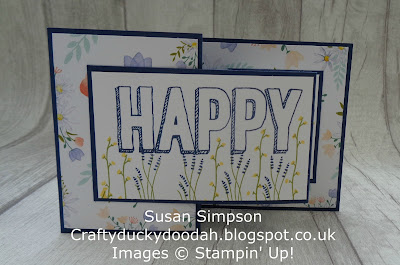 Stampin' Up! UK Independent  Demonstrator Susan Simpson, Craftyduckydoodah!, Daisy Delight, Happy Celebrations, Supplies available 24/7 from my online store,
