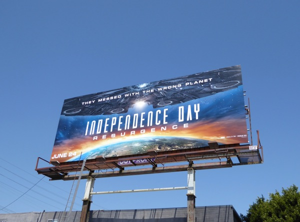 Independence Day Resurgence movie billboard