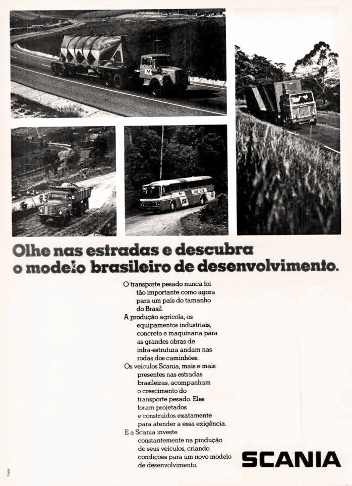 scania. reclame de carros anos 70. brazilian advertising cars in the 70. os anos 70. história da década de 70; Brazil in the 70s; propaganda carros anos 70; Oswaldo Hernandez;