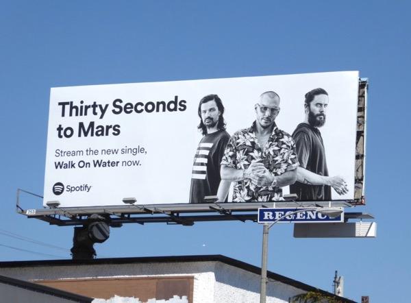 30 Seconds Mars Walk Water Spotify billboard