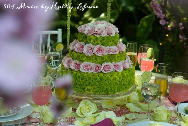 Pink and greens Spring wedding design.