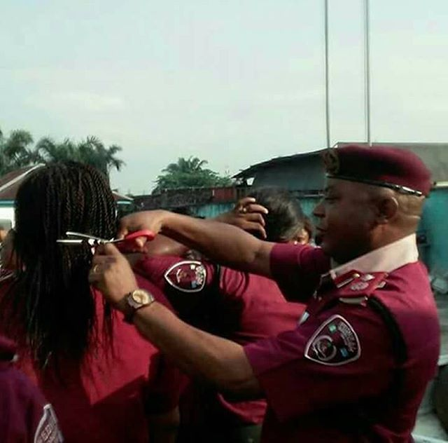 FRSC, indefinitely, suspends sector commander who cut the hair of female staff