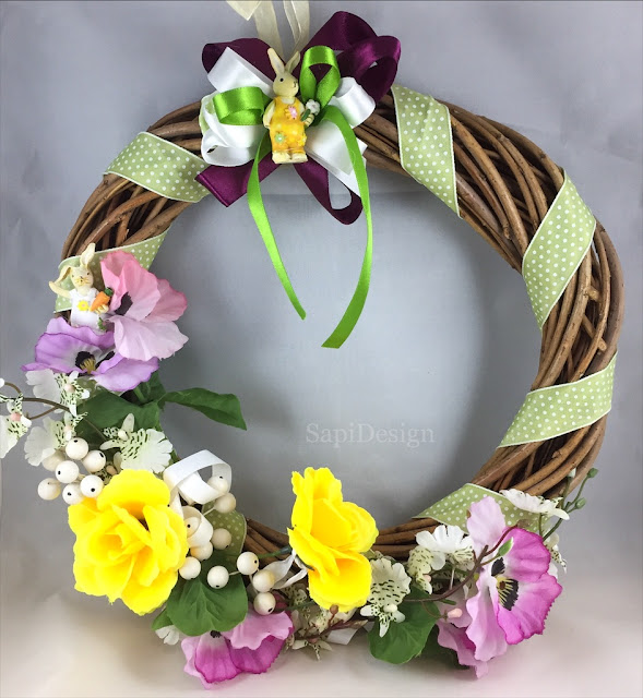 Easterdecor Easter Wreath spring colours SapiDesign